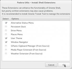 FU Install Shell Extensions - fedorafans.com