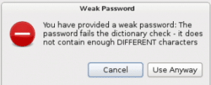 waek password
