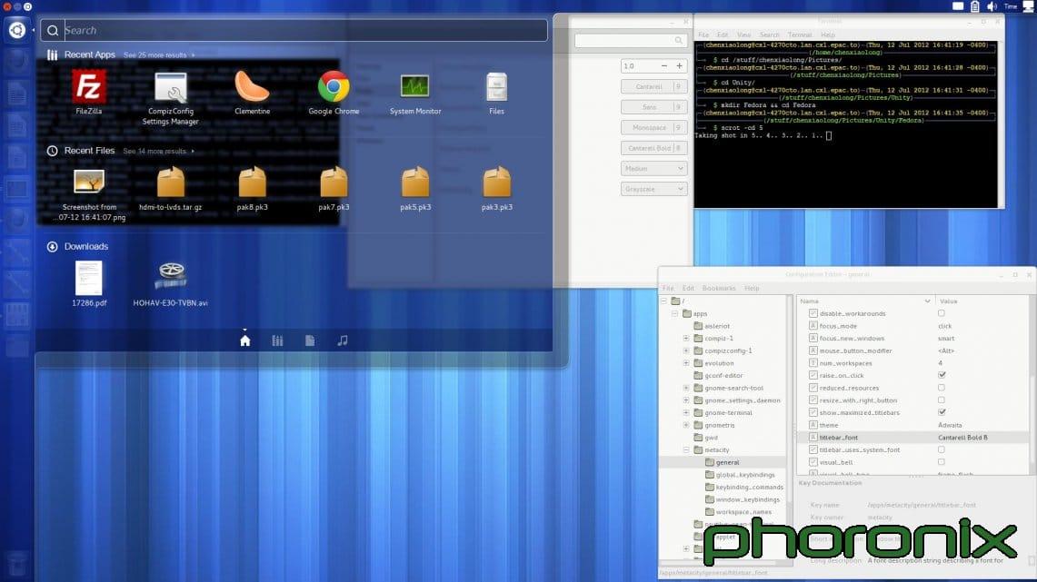 Unity in Fedora 1- fedorafans.com