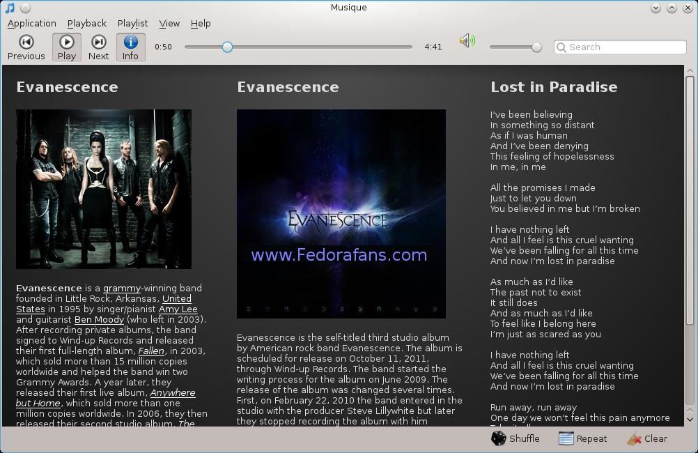 musique-Lyrics-fedorafans.com