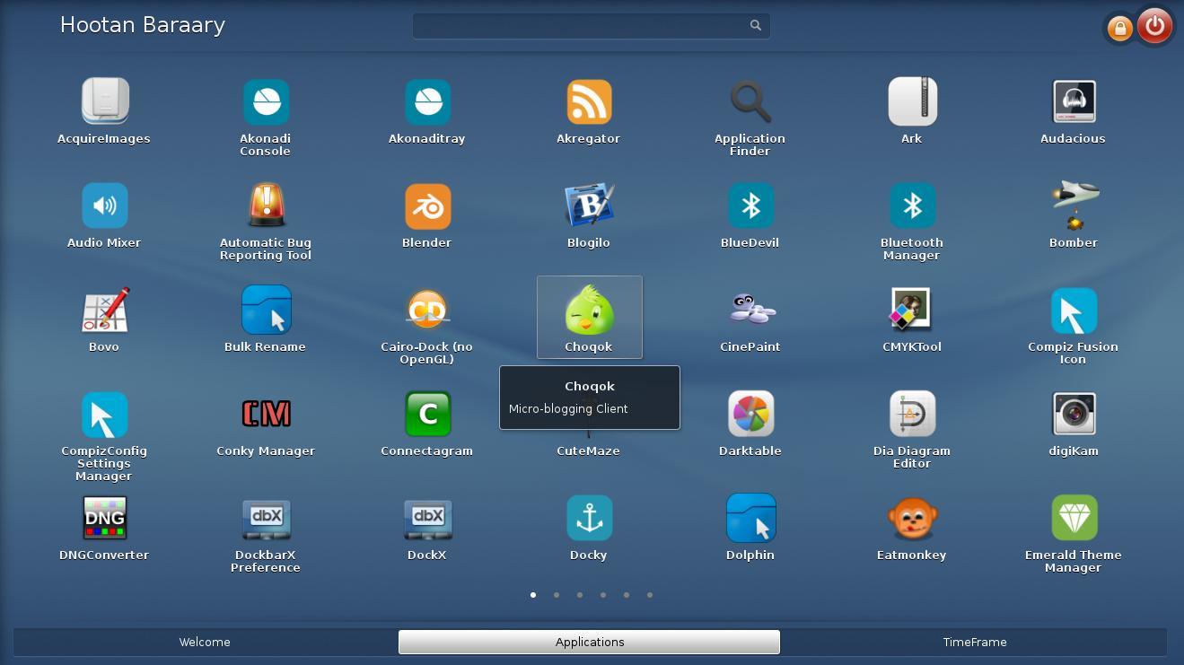 تب Applications که یادآور منوی نرمافزارها در گوشیهای هوشمند است