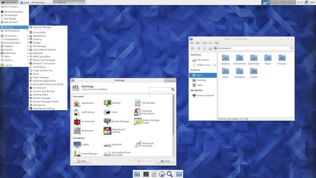 Fedora 23 XFCE