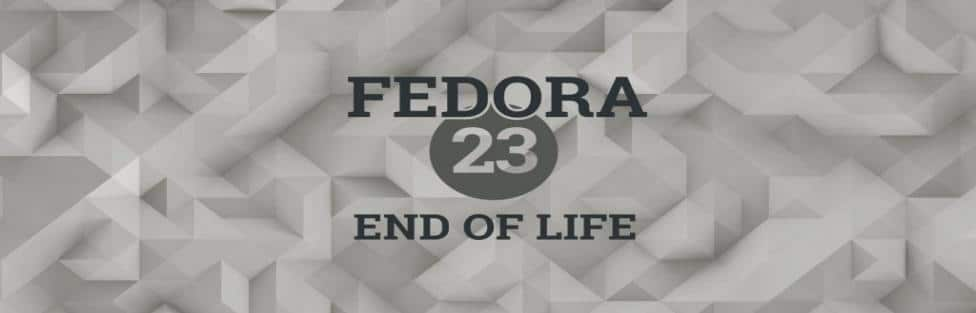 اعلام زمان پایان پشتیبانی از فدورا ۲۳