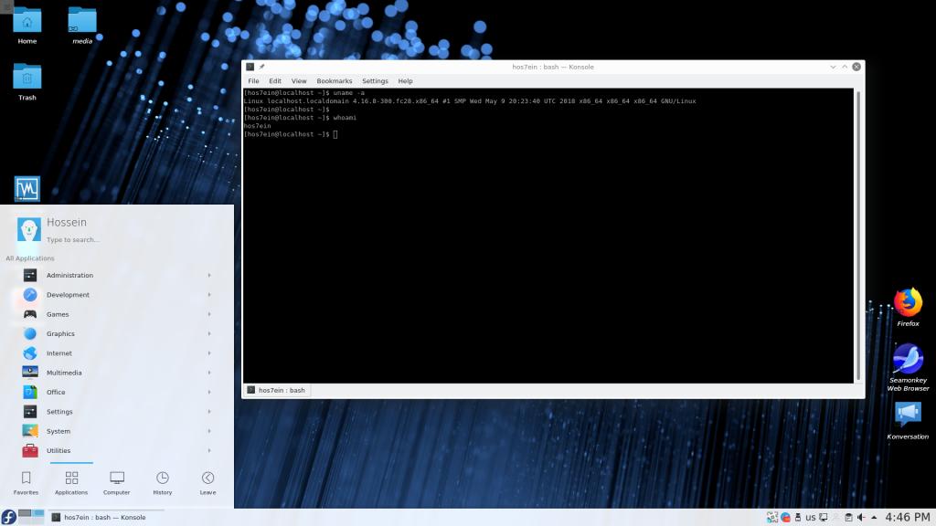 fedora28-kde-desktop