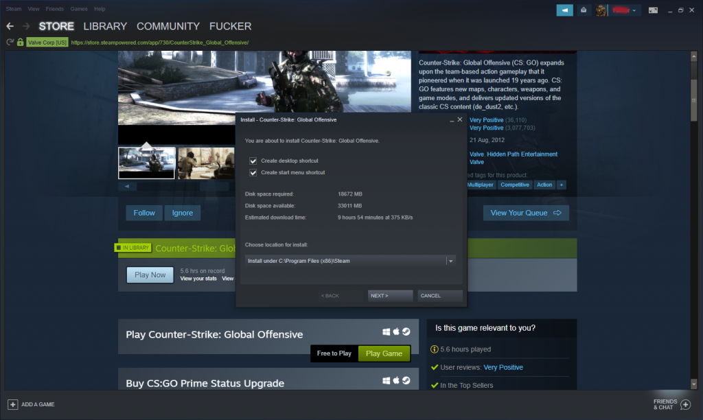InstallGameOnSteam